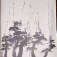 「松林に天使のウンコの雨が降る」画:深見東州